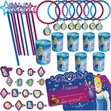 48pc Disney Princess Cinderella Birthday Party Mega Mix Favor Pack For 8 Guests