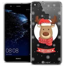 """Coque Crystal Gel Pour Huawei P10 LITE (5.2"""") Souple Noël 2017 Cerf à Echarpe"""