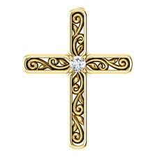 Diamant Solitaire Kreuz 14K GELBGOLD