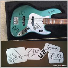 U2 autographs stickers vinyl Bono, The Edge,Adam Clayton,Larry Mullen, Jr. Set 5