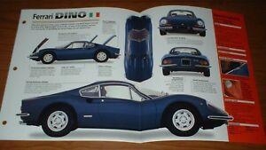 ★★1971 FERRARI DINO 246 GT ORIGINAL IMP BROCHURE INFO SPECS 246GT 71 67 68 69-74