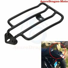Black Luggage Rack  Stock Rear Solo Seat For Harley Custom Sportster XL 883 1200