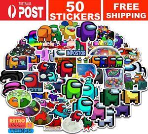 50PCS Among Us Stickers Vinyl Decals Skateboard Laptop Car Books