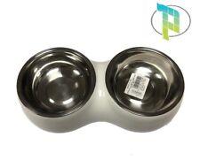 Ciotola per cane In metallo Per Gatto Acqua e Cibo Mangiatoia colore Bianco
