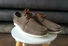Mens BOSS ORANGE NYDECK Grey Suede Deck Shoes, Size 9, NEW, RRP £169