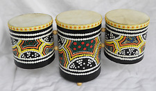 Triple Drum - Tripod Drum - Hand Made and Painted
