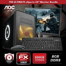 "Origin PC AMD 8 CORE 8350 4GHZ / AMD R7 240 2G GRAPHICS 24"" MONITOR GAMING PC"