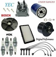 Tune Up Kit Filters Cap Rotor Plugs Wire for Honda Accord 2.2L 1990-1991