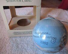 Vintage 1982 Hallmark Season For Caring Satin Christmas Ornament w/ Original Box