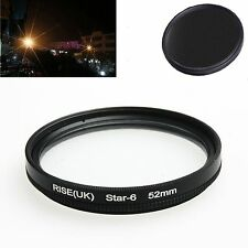 52mm  6 -point star line filter lens filter for Canon Nikon Sony camera lens