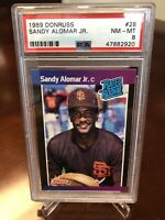Sandy Alomar Jr 1989 Donruss Rookie Card #28 PSA 8 RC VARIATION SEE DESCRIPTION!