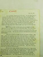 Edgar Kaiser Jr. 7 page Personal letter about Life by wife Susan Nov. 1978