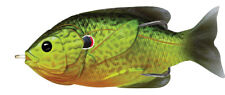 Live Target Sunfish Hollow Body SFH90T552 Florescent Pumpkinseed Topwater Lure