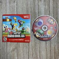 New Super Mario Bros. Wii (Nintendo Wii, 2009) Game Disc & Cardboard Sleeve Only