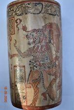 "Sale! Pre Columbian Mayan Crypt Vase, Glyphs huge 8"" Prov"