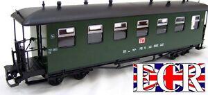 BRAND NEW G SCALE 45mm GAUGE RAILWAY PASSENGER CARRIAGE GREEN GARDEN COACH TRAIN