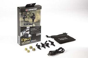 Monster iSport Headphones Wireless VICTORY Bluetooth In-Ear Earbuds - Black NEW