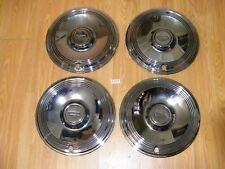 "4 Del Met New Old Stock 15"" Hub Caps Wheel Covers 1973 - 1974 Chevy Car Truck"