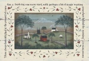 """Primitive /Country 4"""" x 6 """" wall Plaque Donna Atkins - A New Day"""