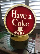 VINTAGE 50's COCA COLA COKE REVOLVING LIGHT UP DISPLAY SIGN HOTDOGS