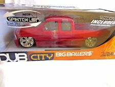 JADA DUB CITY-2002 CHEVY. SILVERADO,PICKUP,1:18 diecast Model,BIG BALLER,  RED