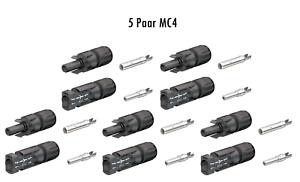 Stäubli original MC4 Set 5 Paar Buchse + Stecker DC Steckverbinder für 4 - 6mm²