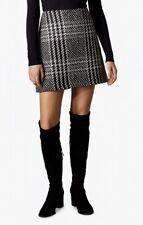 Karen Millen Check Mini Skirt Black/White Size 8 RRP 99 BNWT Winter Skirt Chic