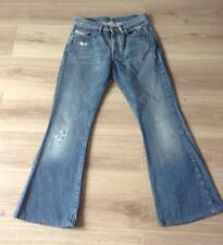 DIESEL JEANS PLUMBA WOMENS FLARES DISTRESSED SIZE 28 X 29 MARK SEE DESCRIPTION