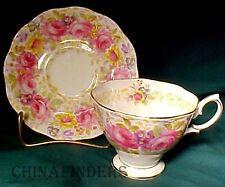 """ROYAL ALBERT china SERENA pattern Cup & Saucer Set - 2-3/4"""""""