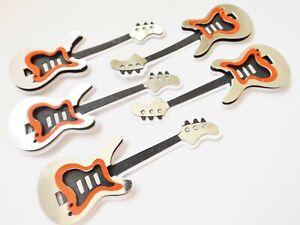 Guitars Musical Instruments Papercraft Embellishments Scrapbooking Card Making