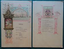 Rare Tsar Nicholas II Coronation Menus 1896 - Mayor of Moscow Hosts a Dinner