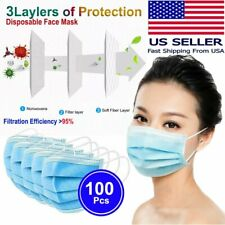 [100 PCS] Disposable Face Mask Non Medical Surgical 3-Ply Ear-loop Mouth Cover