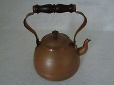 Vintage Copper Tea Kettle With Wooden Handle Made in Portugal (Cat.#3C012)