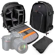 Black Backpack w/ Raincover for Nikon D3400 / D5600 / D7500 / 1 J1 / J2 Cameras