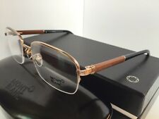 MONTBLANC MB 447 MB447 028 55[]18 140 Gold Wood Black Rx Semi-Rimless Eyeglasses