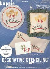 Kappie Originals Decorative Stenciling Joy Angel Holly Christmas Set of 4