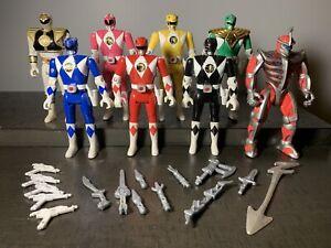Mighty Morphin Power Rangers 5.5 inch auto-morphin figure full set