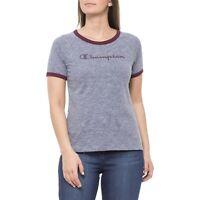 Champion T-Shirt Damen 110846 F18 EL002 OXGM Allover Grau
