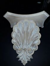 SCALLOPPED SEASHELL CORBELS,  resin, 13x13, SHELVES faux limed wood LOVELY!