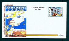 SPAIN - SPAGNA - 1995 - AEROGRAMMA - 70 pt - 75° ann. primo volo Tolosa-Casablan