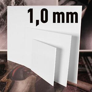 Polystyrol Platten PS Platte weiss, verschiedene Größen, in der   Stärke: 1,0 mm