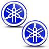 2 Resinati 3D Adesivi Yamaha R1 R6 Diapason Logo Emblem Blu Auto Moto Casco Bici