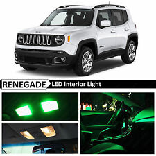 11x Green Interior LED Lights Package Kit for 2015 Jeep Renegade BU