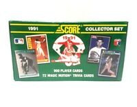 1991 Score Baseball Factory-Set with 900 Cards, 72 Trivia & 7 Bonus Cooperstown