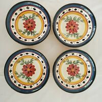 Pier 1 Imports Oil Dipping Bowls Alexandria Hand Painted Earthenware Set Of 4
