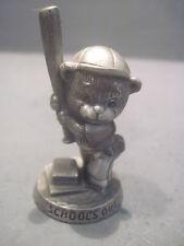 Vintage Avon Fine  Pewter Figurine, SCHOOLS OUT 1983