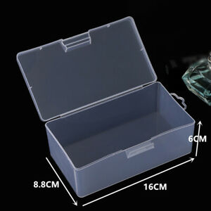 Plastic Transparent With Lid Storage Box Collection Container Cases For Necklace