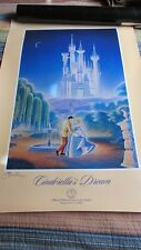 "Official Disenyana Convention Poster ""Cindrella'S Dream ~Signed By Artist"