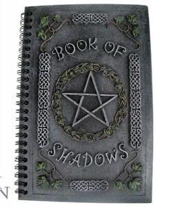 Pagan/Wiccan Book Of Shadows Pentagram Detail 20cm Resin Embossed Journal