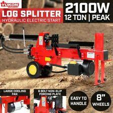 Yukon 12t Electric Hydraulic Log Splitter Wood Timber Firewood Block Cutter
